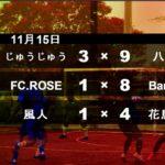 年間リーグ2020 11/15