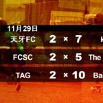 年間リーグ2020 11/29